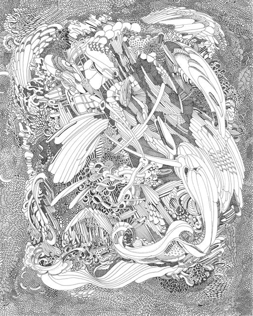 Angelika Arendt, Tusche auf Papier, 30 x 24 cm