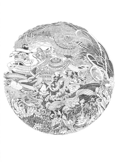 Angelika Arendt, Tusche auf Papier, 40 x 30 cm