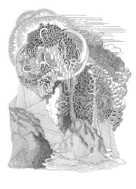 Angelika Arendt, Tusche auf Papier, 21 x 14,8 cm