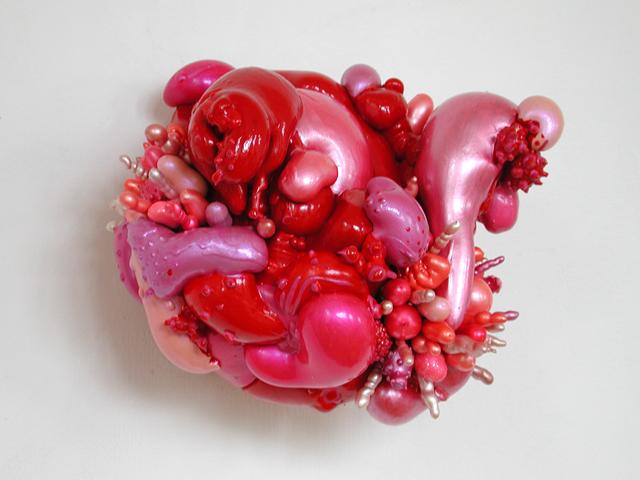 Angelika Arendt, polyurethane foam, acrylic paint, 30 x 30 x 30 cm