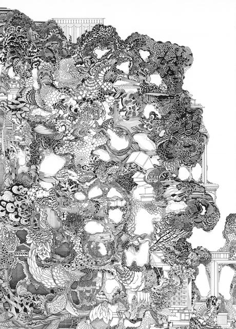 Angelika Arendt, Tusche auf Papier, 50 x 70 cm