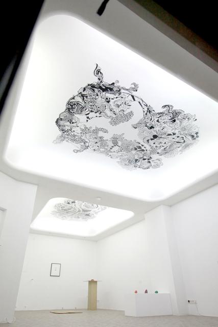 """Angelika Arendt, Ausstellungsansicht, \""""Vertigo Headspin\"""", jelängerjelieber, Kaiserslautern"""