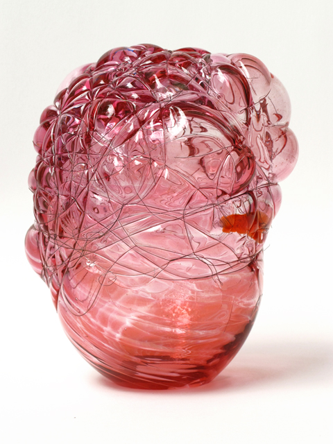 Angelika Arendt, glass, wire, 18,5 x 15 x 14 cm