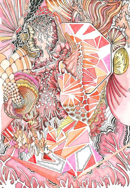 Angelika Arendt, Fineliner, Aquarell auf Papier