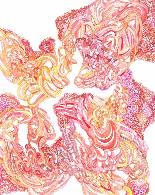 Angelika Arendt, Tusche und Aquarell auf Papier, 30 × 24 cm