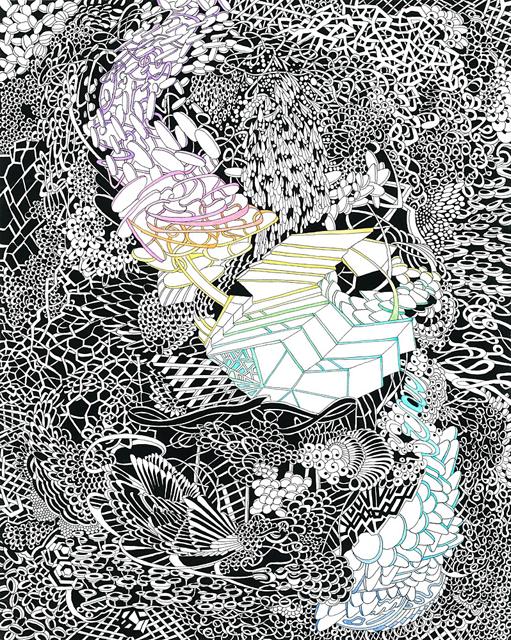 Angelika Arendt, Tusche, Aquarell und Tempera auf Papier, 30 x 24 cm