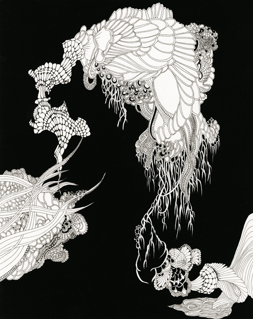 Angelika Arendt, ink and gouache on paper, 30 × 24 cm