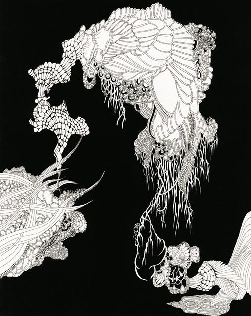 Angelika Arendt, Tusche und Gouache auf Papier, 30 x 24 cm