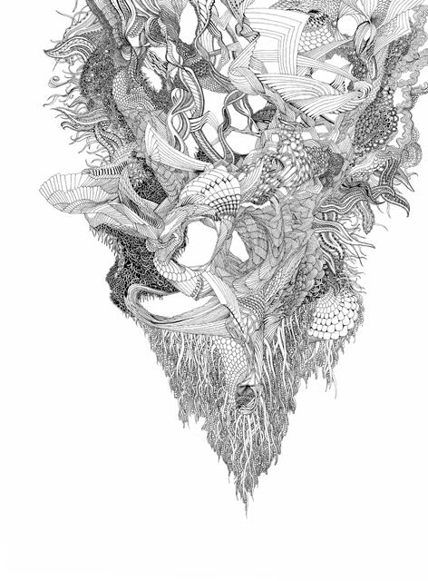 Angelika Arendt, Tusche auf Papier, 30 x 40 cm