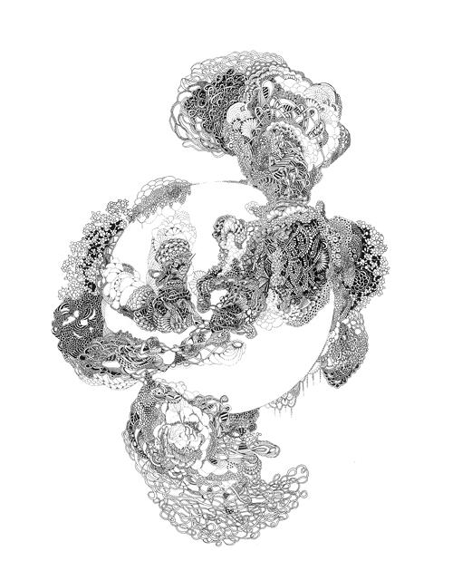 Angelika Arendt, ink on paper, 30 x 24 cm