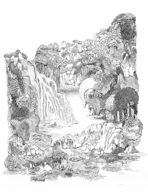 Angelika Arendt, Tusche auf Papier, 80 x 60 cm