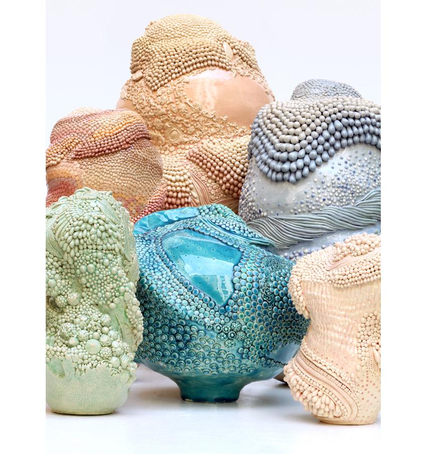 Angelika Arendt, Skulpturengruppe, Keramik